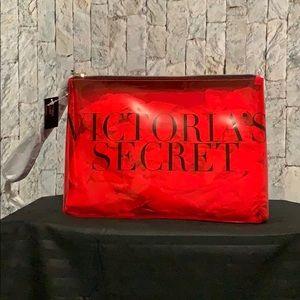 Victoria Secret Red Makeup Bag